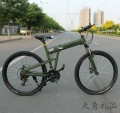 26寸碳钢悍马高配版24速山地自行车