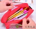可爱小熊文具袋精致帆布笔袋多功能铅笔袋