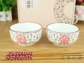 2碗2筷套装碗 陶瓷礼品活动促销餐具