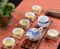 功夫陶瓷茶具套装 超薄整套玲珑青花瓷镂空