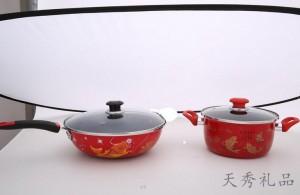 高温珐琅搪瓷炒锅套装