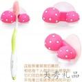 新奇特小草莓吸墙牙刷架 Love双心情侣小蘑菇