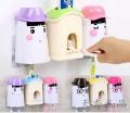 爱情勇士洗漱套装--自动挤牙膏+防尘漱口杯+情侣牙刷架三件套