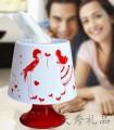 台灯造型圆形纸巾筒