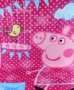 佩佩猪图形浴巾