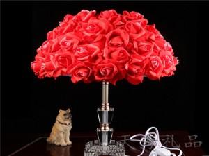 玫瑰花朵公主创意台灯