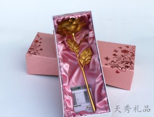 24k金箔玫瑰花金玫瑰