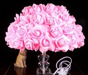 欧式玫瑰花结婚礼物台灯浪