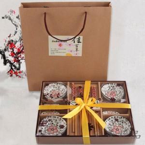 韩式碟筷陶瓷餐具套装