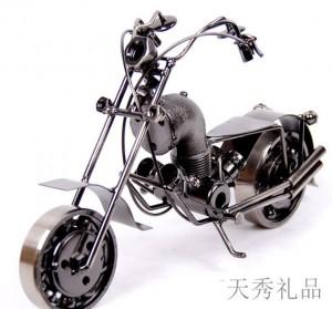 家饰大号铁质摩托模型
