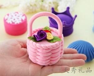 欧式首饰盒韩国绒布求婚戒指盒