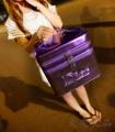 2015新款韩国化妆包手提双层化妆包