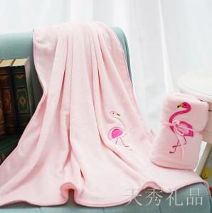 火烈鸟毛毯