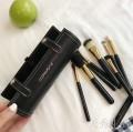 MAC品牌化妆套刷9支装 内含小镜子 高级PU皮质圆筒包装 19x7cm