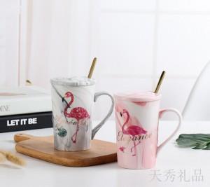 火烈鸟陶瓷对杯